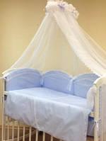 Набор в детскую кроватку Drim фиалковый (7 предметов), фото 1
