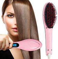 Расческа-выпрямитель с дисплеем Hair Brush Straightening HQT-906