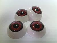 Глазки куклы круглые 12мм карие 570419