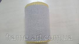 Канва прошва Германия Vaupel & Heilenbeck 14 см лен с желтым