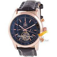 Мужские механические часы Breitling Mulliner Tourbillon Black (Брайтлинг)