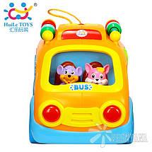 Игрушка Huile Toys Веселый автобус 988, фото 2