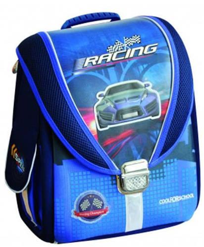 """Отличный школьный рюкзак-трансформер 6+ для мальчика, синий CFS 14"""", """"Blue Car"""" 710 CF85633"""