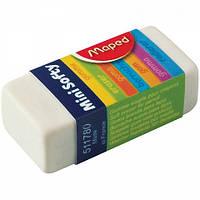 """Ластик Maped (Мапед) """"Mini-Softy"""", в картон. держателе, белый."""