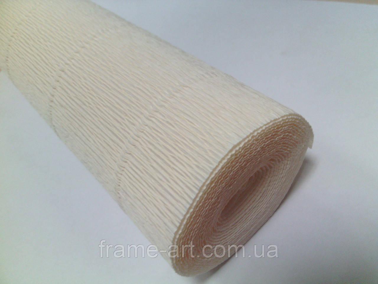 Креп-бумага Италия 50см*2,5м 180г/м2 603 молочка 074