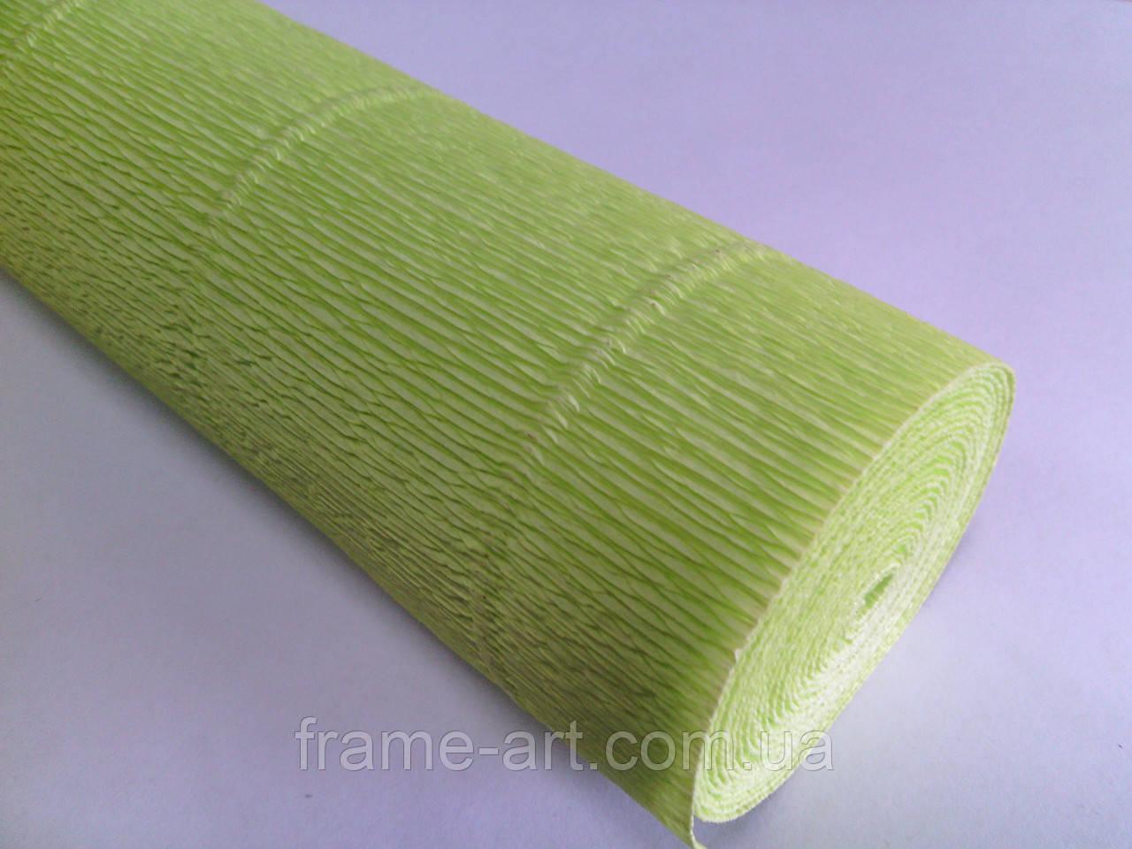 Креп-бумага Италия 50см*2,5м 180г/м2 558 лимонный 074