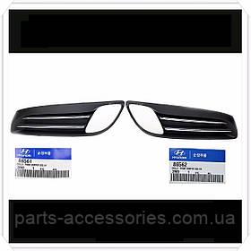 Купе Hyundai Genesis 2010-12 решітки в передній бампер решітка ліва права нові
