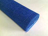 Креп-бумага Италия 50см*2,5м 180г/м2 557 синий 074