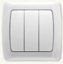 Выключатель 3х клавишный, бел/крем, Viko CARMEN
