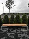 Лавка садово-парковая без спинки URBAN 2, фото 3