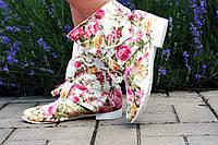 Женские стильные котоновые ботиночки Бант. Арт-0560.