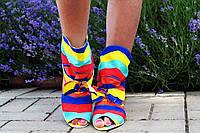 """Женские стильные тканевые ботиночки """"Радуга"""". Арт-0561"""