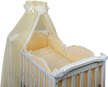 Набор в детскую кроватку Drim бежевый (6 предметов)