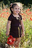 Детское модное платье 101-1д ЕВ