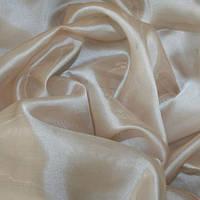 Тюль Микровуаль Семия бежево - розовая, однотонная + высококачественный пошив