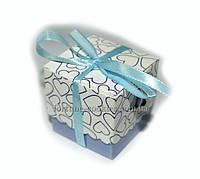 """Бонбоньерка с печеньем счастья """"Сюрприз"""" Гурман (в шоколаде), голубая"""