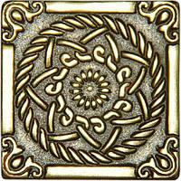 Вставка декоративная бронзовая Sun (5x5)
