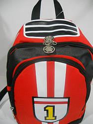 Детский школьный рюкзак красный для мальчика ранец портфель недорого плотный текстиль оптом 7 км Г1584/2138