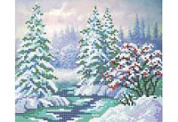 "Схема для вышивки бисером ""Зимний лес"""