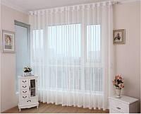Тюль Микровуаль Семия белая, однотонная + высококачественный пошив, фото 1