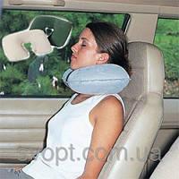 Надувная подушка под шею (46х28 см)