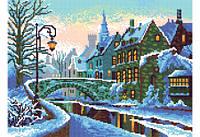 """Схема для вышивки бисером """"Зимний город"""""""