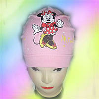 Шапка трикотажная для девочек Минни 5-12 лет, разные цвета