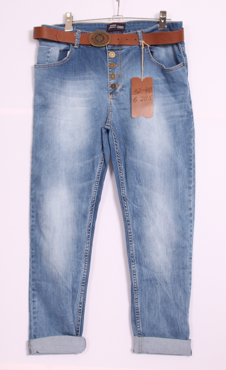 Женские джинсы бойфренды  Red blue большого размера по 40размер