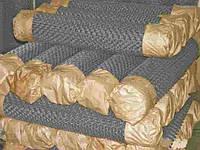 Сетка рабица 50х50х1,6 высота 1,2 м/10 оцинкованная загнутые концы
