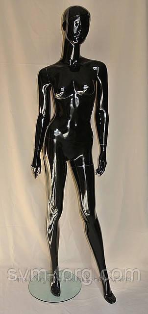 Женский манекен лакированный чёрный
