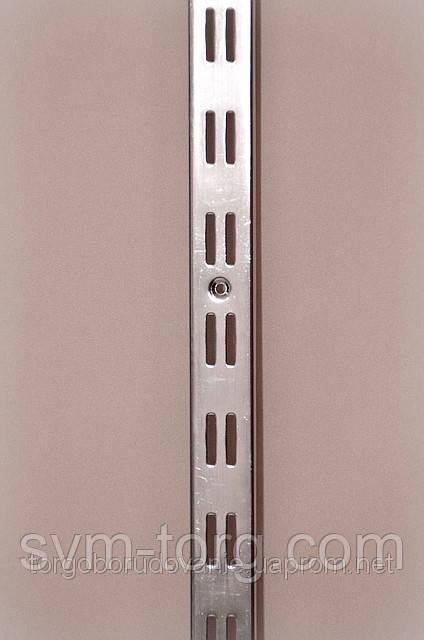 Рейка хромированная двойная, 2м. (широкая)