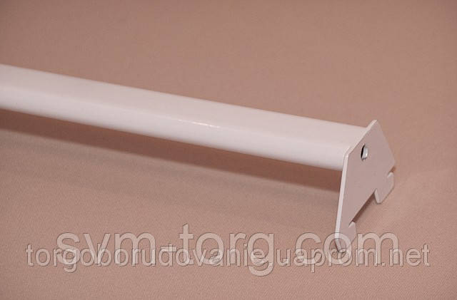 Перемычка пристенная овальная белая, 120см