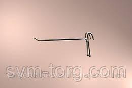 Крючок хромированный на сетку,10 см. (6мм.)