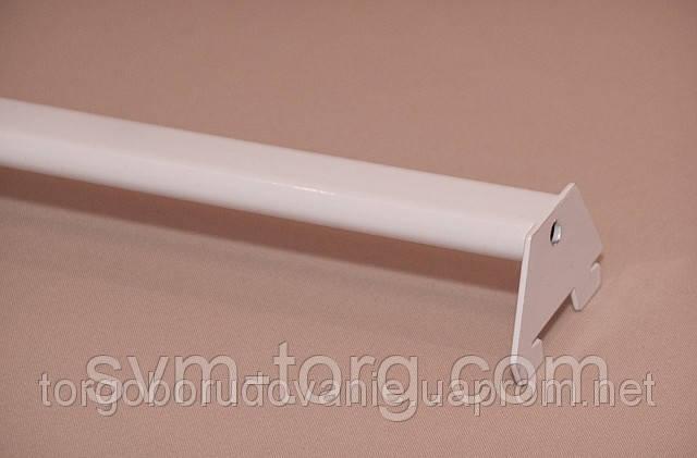 Перемычка пристенная овальная белая, 90см
