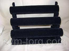 Чёрная подставка для украшений, 3 бочонка