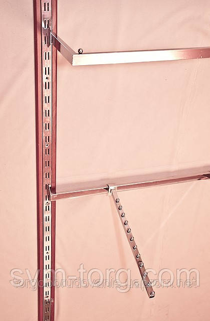 Дуга квадратная хромированная, 120 см.
