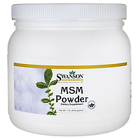 Метилсульфонилметан в порошке для проблемной кожи, МСМ,Swanson Premium, 454 г