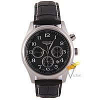 Мужские механические часы Longines Master Collection Black (Лонжин)