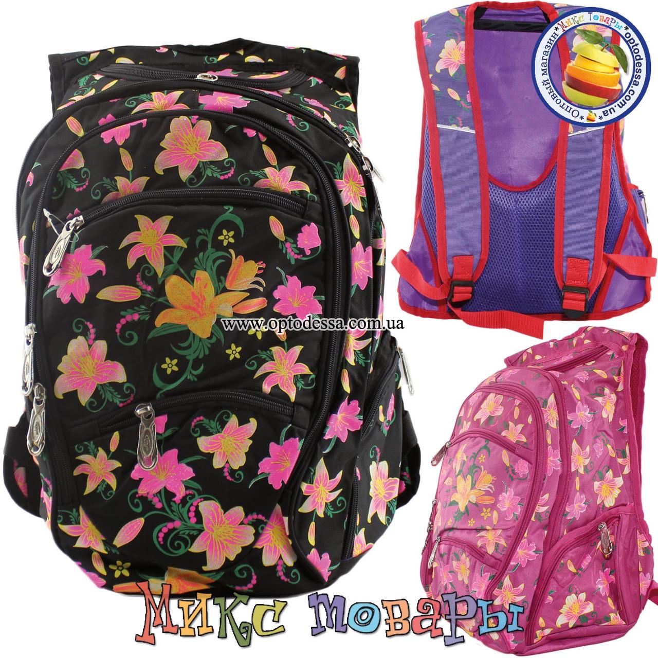 da6bb1ec781d Купить Рюкзаки с цветами для девочек в школу (tl08304) оптом. Прямые ...