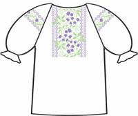159-12-09 Сорочка для девочек под вышивку, белая, короткий рукав, размер 28