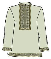 ТПК-202 Сорочка мужская, лен, длинный рукав, 44 размер