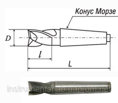 Фреза шпоночная 20,0 мм, к/х, Р6М5, 107/22, КМ-2 мм,