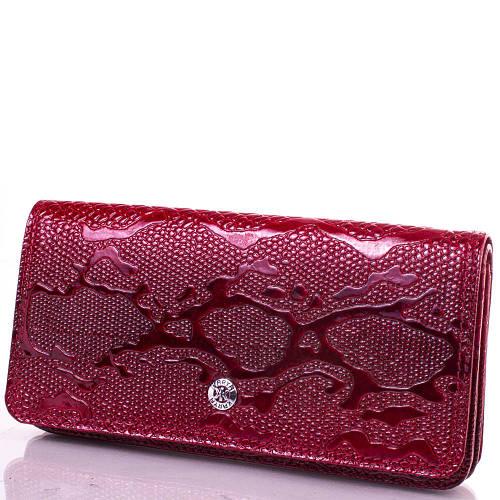 Женский элегантный кожаный кошелек KARYA (КАРИЯ) SHI0939-1LAK Красный