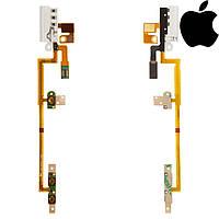 Шлейф для iPod Nano 6G, коннектор наушников, кнопки включения, кнопок звука, с компон, белый, оригинал