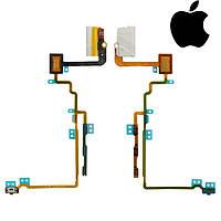 Шлейф для iPod Nano 7G, коннектор наушников, кнопки включения, кнопок звука, с компон, белый,оригинал