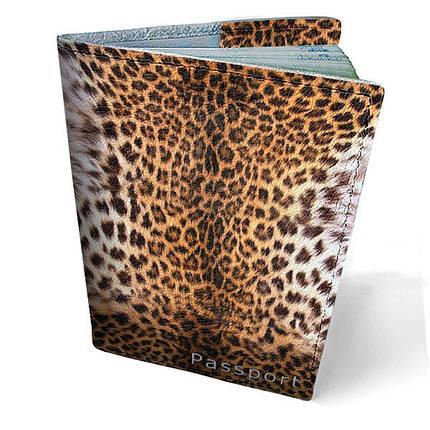 """Кожаная обложка для паспорта """"Леопард"""", фото 2"""