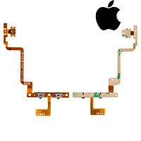 Шлейф для iPod Touch 4G, кнопки включения, кнопок звука, с компонентом, оригинал