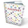 """Кожаная обложка для паспорта """"Луи Витон"""""""