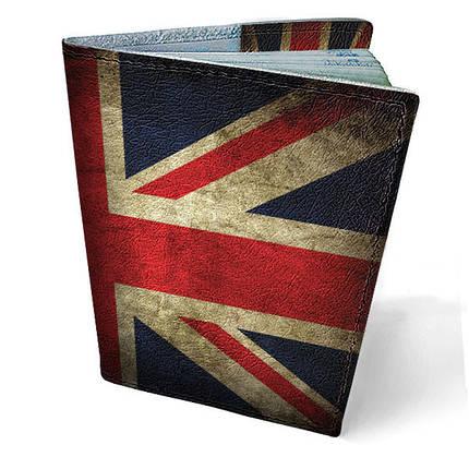 """Кожаная обложка для паспорта """"Флаг Великобритании"""", фото 2"""