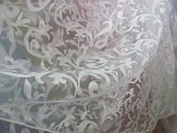 Тюль органза с рисунком завиток